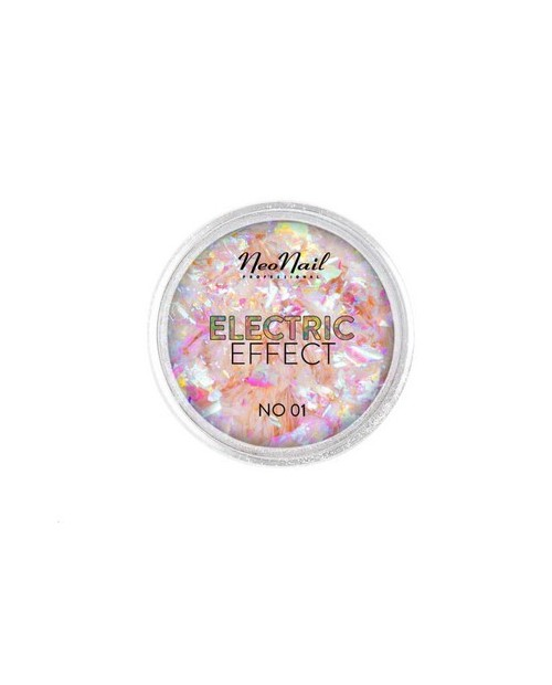 Flocons Electric Effect 01 vert-rose
