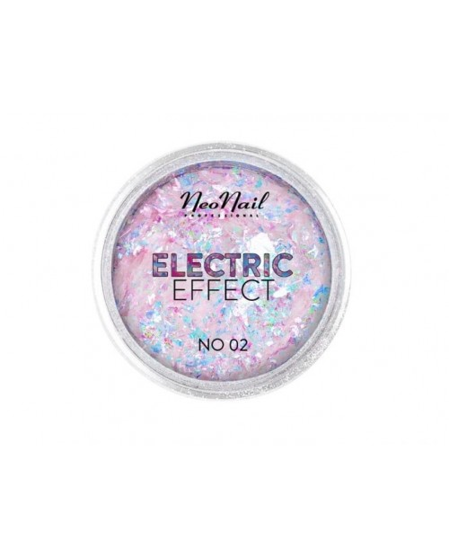 Flocons Electric Effect 02 rose-bleu
