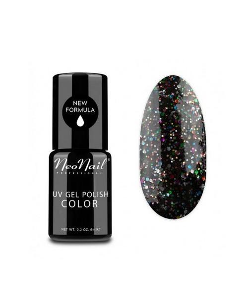 Vernis Permanent -  NeoNail - Black Confetti 3625 - 6 ml